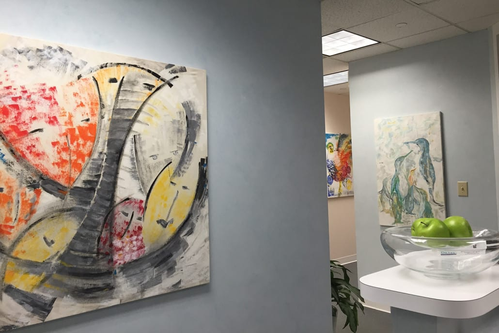 Dr. Ursula Klostermyer Advanced Dentistry of Richmond office and artwork