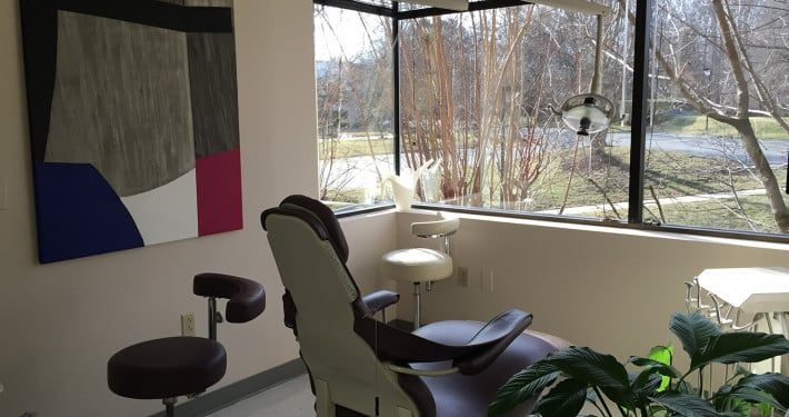 Purple chair denatl chair at dental office henrico county virginia